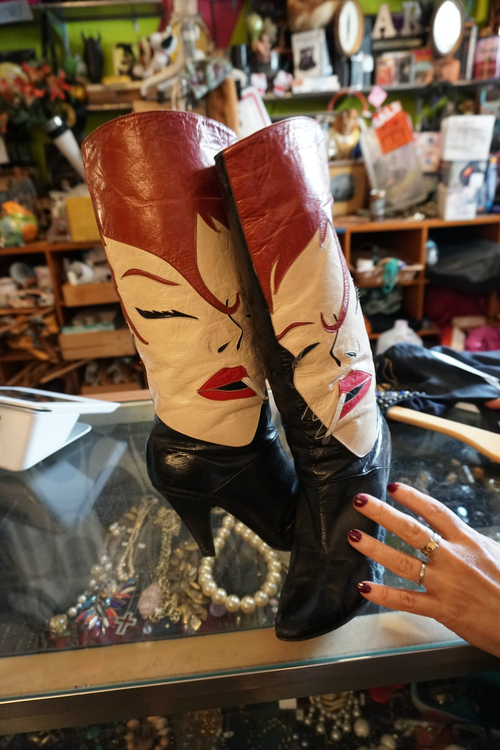 Monk Vintage boots Best Vintage Clothing Stores in Williamsburg, Brooklyn, NYC The Travel Women