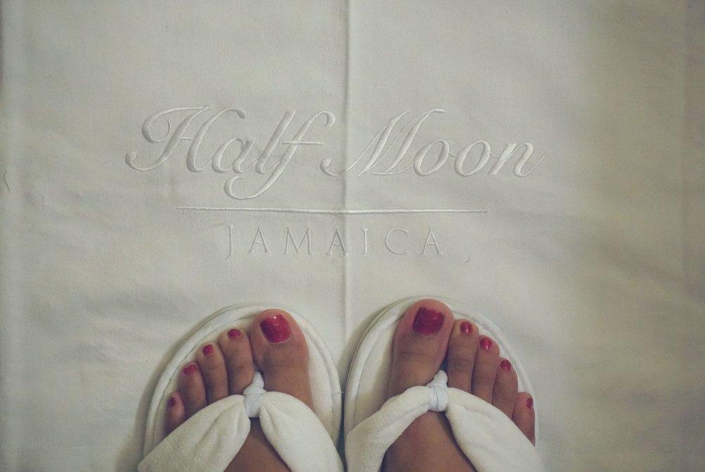 Half Moon Jamaica Luxury Resort Review slippers