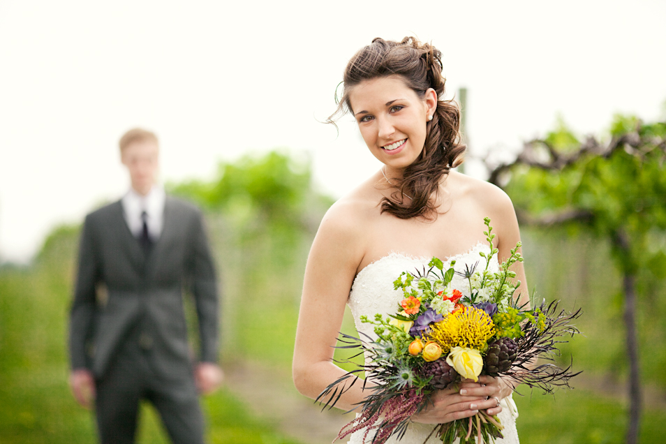 Wedding Photography in Ames, Iowa at Prairie Moon Winery