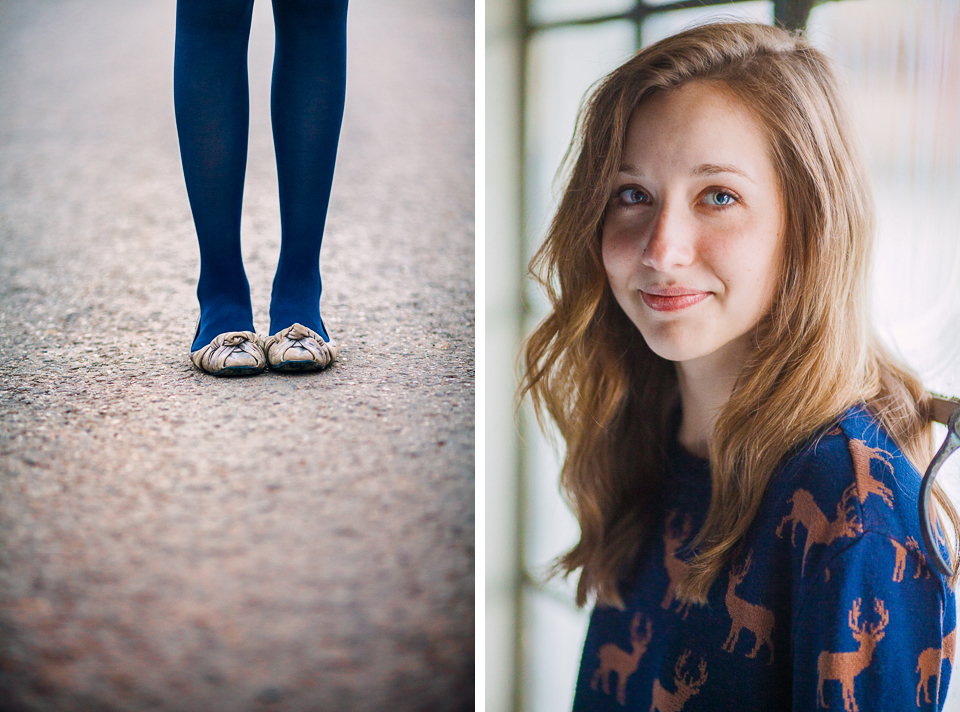 Senior portrait photographers Hatch And Maas Collective photographed Molly in Fayetteville, Arkansas.