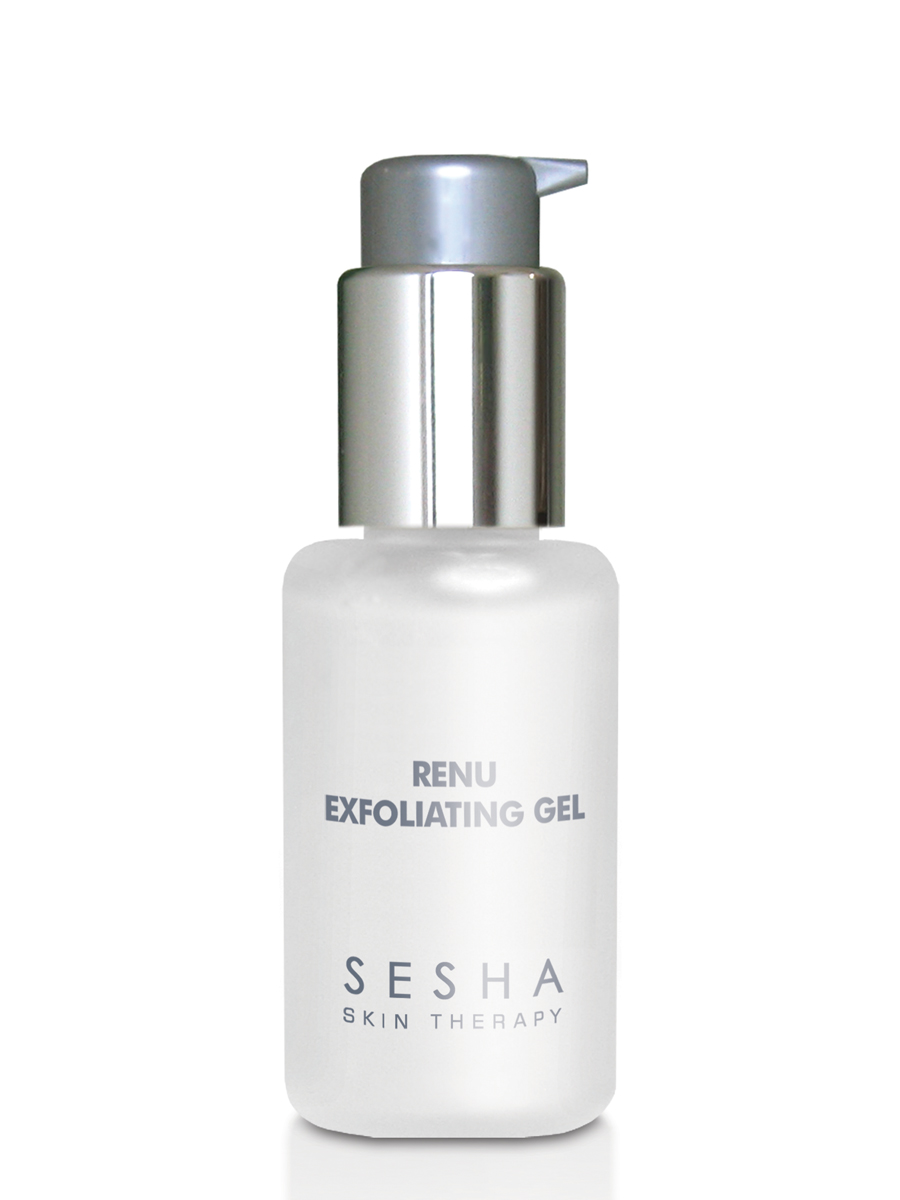 SESHA SKIN THERAPY RENU EXFOLIATING GEL - Our award-winning exfoliating gel uses natural papaya enzyme to gently remove dead cells and unclog pores. While overuse of acid peels or harsh chemicals can irritate healthy, live skin cells, the Renu Exfoliating Gel selectively removes dead cells to reveal toned, polished skin.Company Contact: Phyllis Hsieh / Owner / Founder phsieh@seshaskin.comPhone: 610.355.2454CLICK HERE TO VISIT WEBSITE