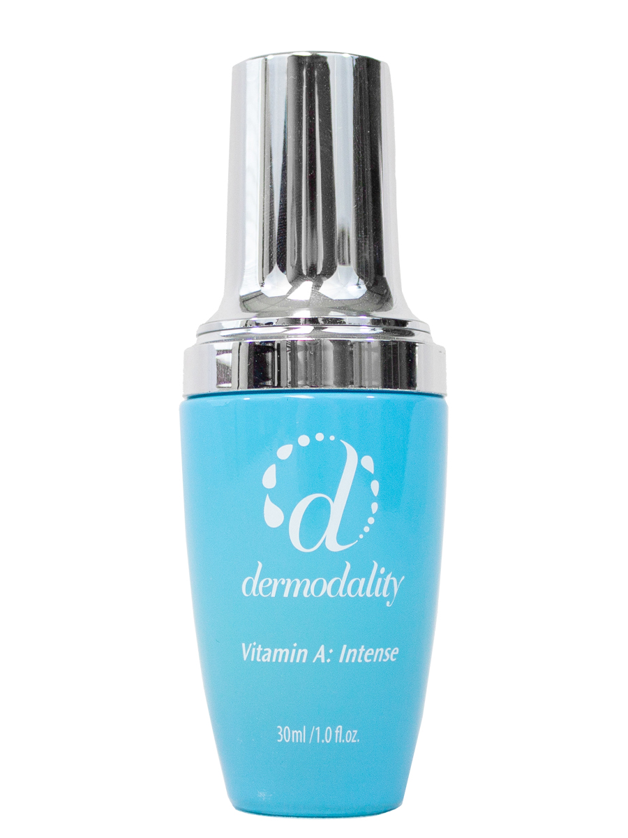 DERMODALITY - VITAMIN A INTENSE - This highly concentrated retinol serum (retinol .8%) is one of the most effective anti-aging ingredients to minimize fine lines and wrinkles, firm and re-texture skin and diminish pigment spots. Addresses blemished skin concerns as well.CLICK HERE TO VISIT WEBSITE