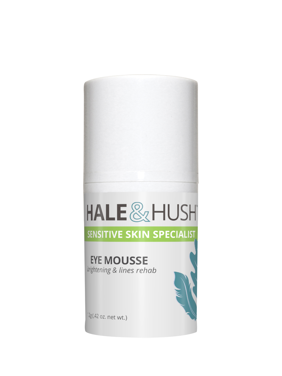 Full Size Hale & Hush Eye Mousse - Packed with wrinkle-fighting peptides, antioxidants and brightening effects to revive and enliven stressed delicate eye skin, Eye Mousse is velvety and soothing moisture.Eye Mousse also rehabilitates sensitive and fragile skin around the eye area with two revolutionary ingredients: Chronopeptide to revive sleep-deprived skin, and Carnosine (L) Benfotiamine, a patented anti-glycation complex.BENEFITS:Smooths fine lines and wrinkles.Plumps and hydrates skin.Improves skin elasticity, texture, and appearance.Renews tone and texture.