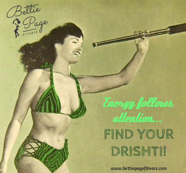 Bettie looking for her drishti through a spyglass!