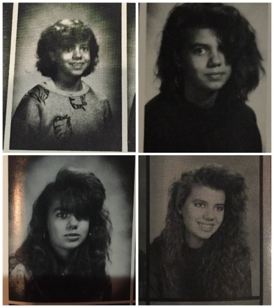 Alexis in 6th, 7th, 8th, and 11th grade yearbook photos