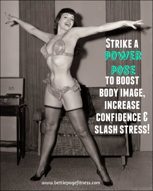 ~Joyful Bettie ~ This pic appears in the   Bettie Page Fitness: Total Body Strength & Cardio   video as the inspiration for the Star Jumps cardio burst!~