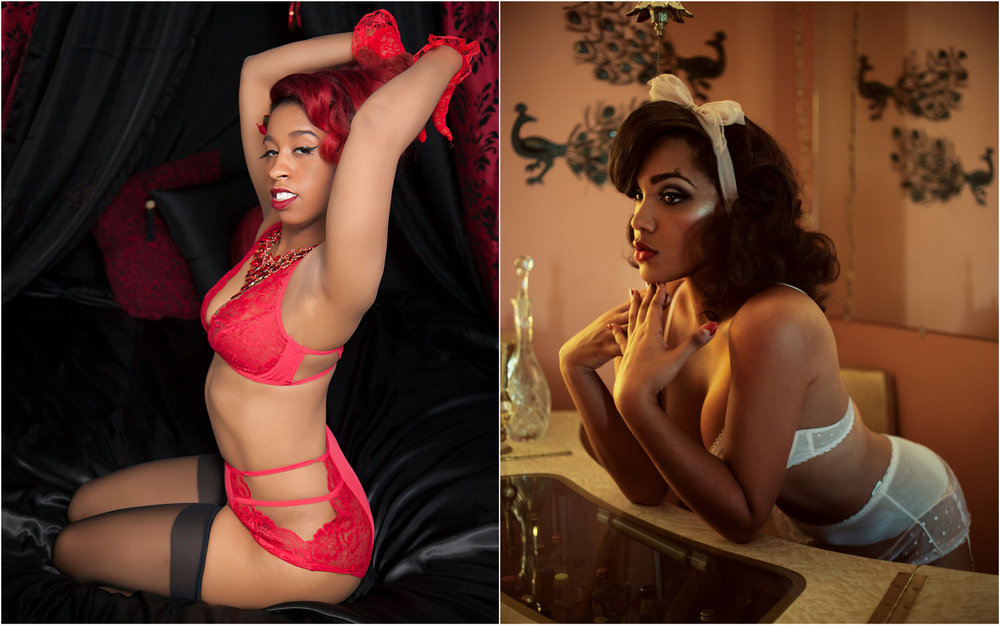 The Trap Pinup Diamant Duchess (by Brooklyn Brat Images), Ashleeta Beauchamp (by Lars Kommienezuspadt)