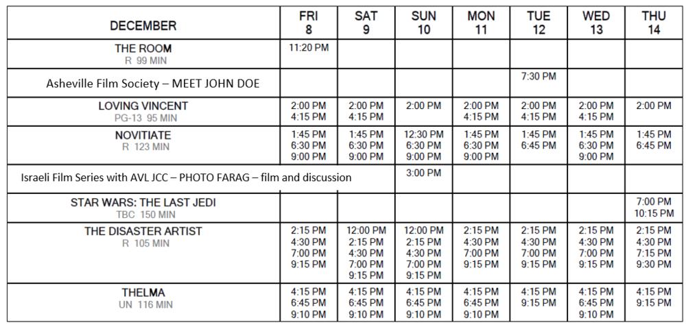 Schedule 12/8 through 14