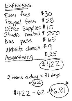 etsy blog, pricing your work,