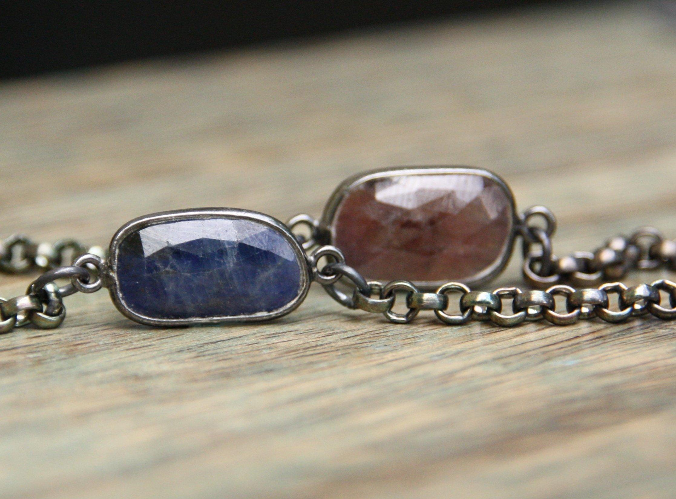 jewelry, sapphire, bracelet, sterling silver