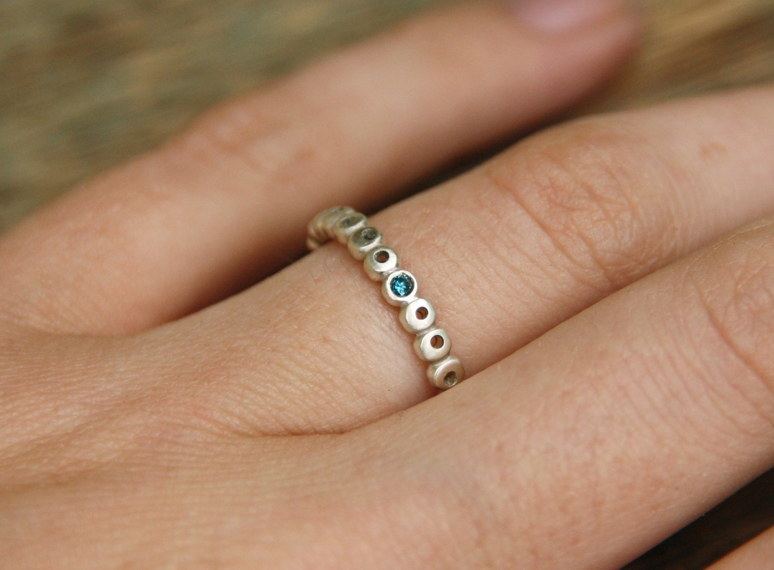 jewelry, ring, handmade, engagement, silver, diamond, blue diamond ring
