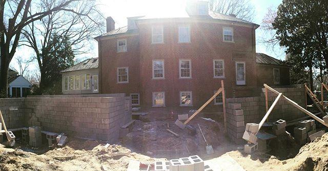 Sunshine on block work, #progress #peak3construction