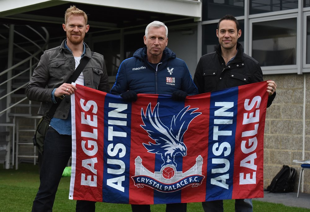 Woody and Phil with Alan Pardew