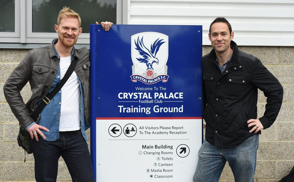 Woody and Phil at the training ground.
