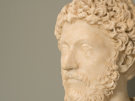 A famous lucubration from antiquity is Marcus Aurelius's Meditations. Pictured: a photo I took of the Portrait Bust of Emperor Marcus Aurelius in the Chicago Museum of Art, circa 170-180 A. D.
