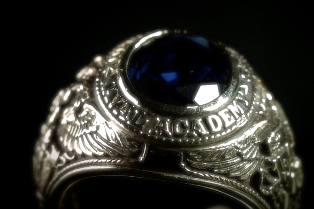 A replica of Minter's 1932 Annapolis Ring