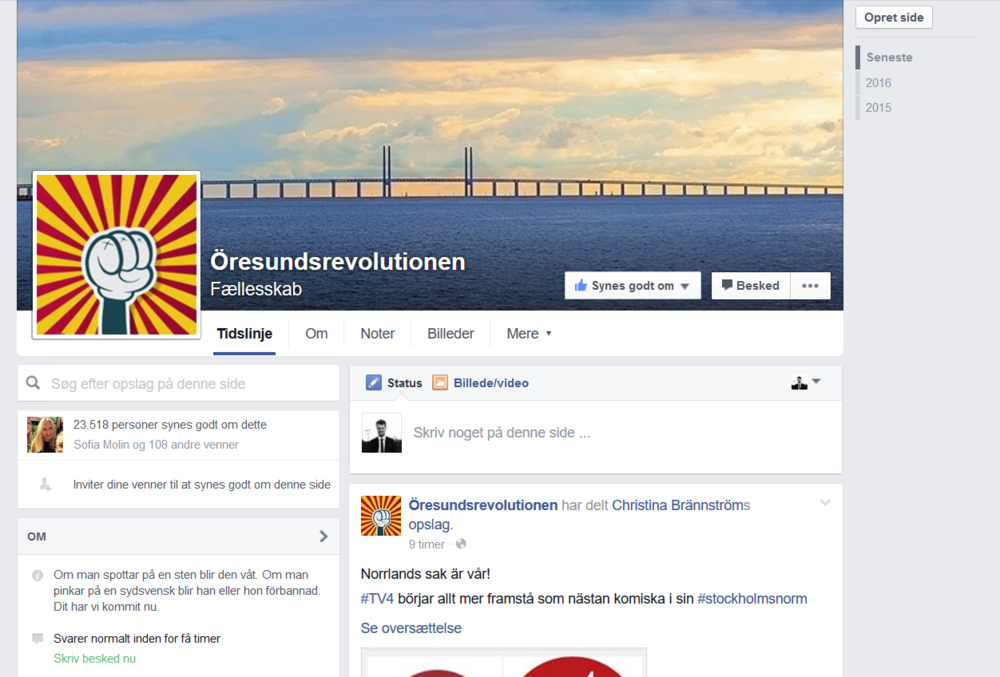 Find Öresundsrevolutionen on Facebook!