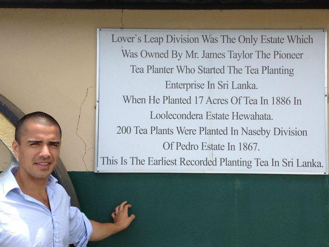 Plaque at Lovers Leap Tea Plantation