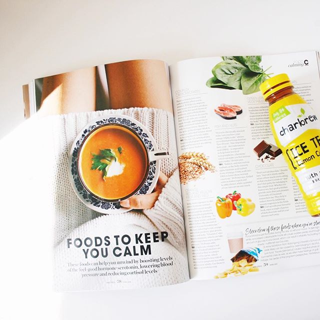 Eating to beat stress?  We'll take it!  We're reading about foods to keep us calm while sipping on a #charbrew.  Boosting levels of serotonin, lowering blood pressure and reducing cortisol levels is what its all about!