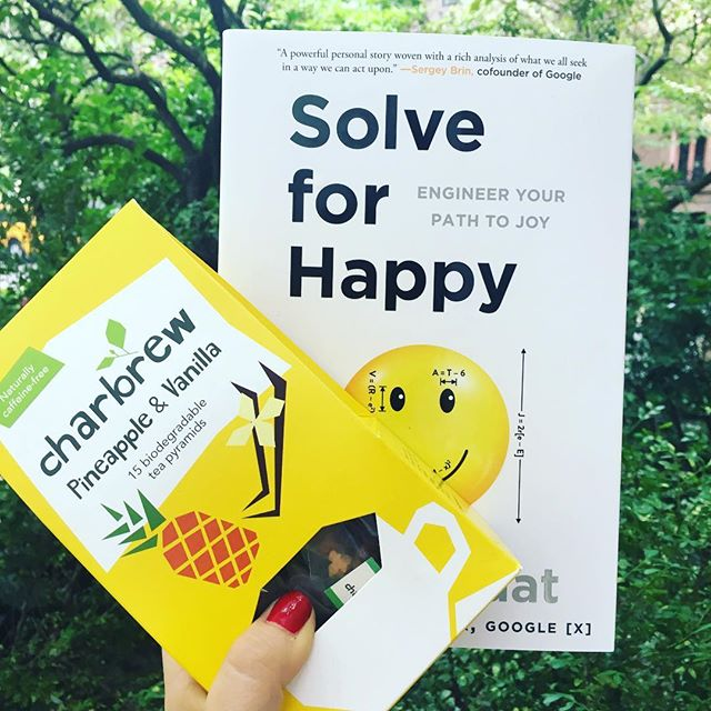 Find your joy! Want to learn more about our two day workshop on happiness? @solve.for.happy ! #joy #happiness #happinessequation #solveforhappy #tea #charbrew #nyc #tealover #pineapple