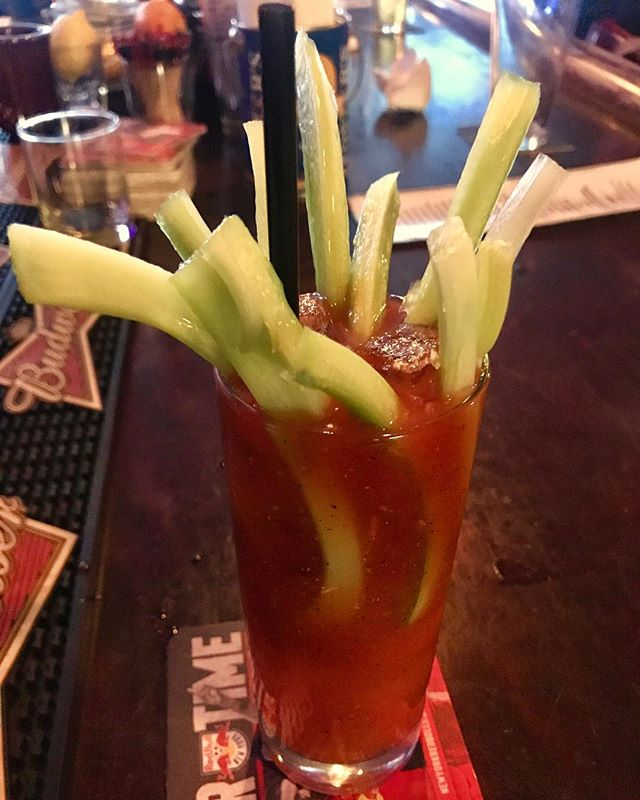 A bloody for the ages. Also to get your greens in. — #divinebar #sunday #football #brooklyn #newyork #thingstodoinnyc