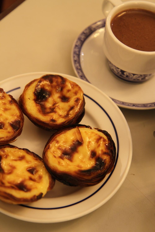 Portuguese egg tart in PASTÉIS DE BELÉM