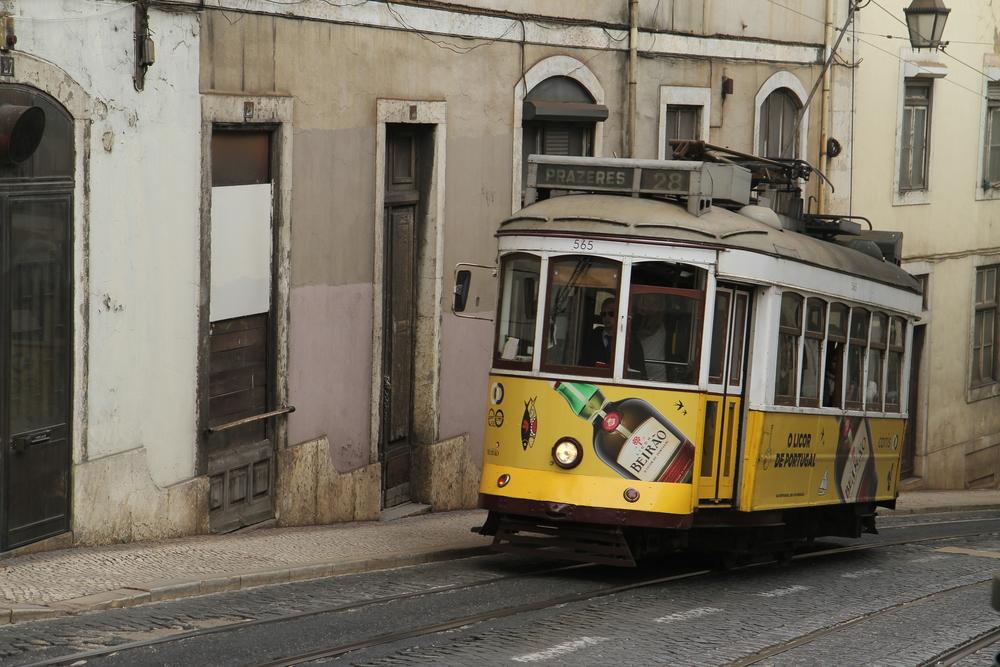 Old tram of Lisbon