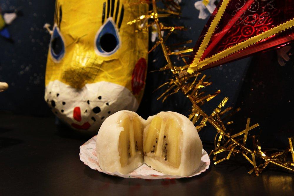 Bánh mochi nhân kiwi của Wagashi House