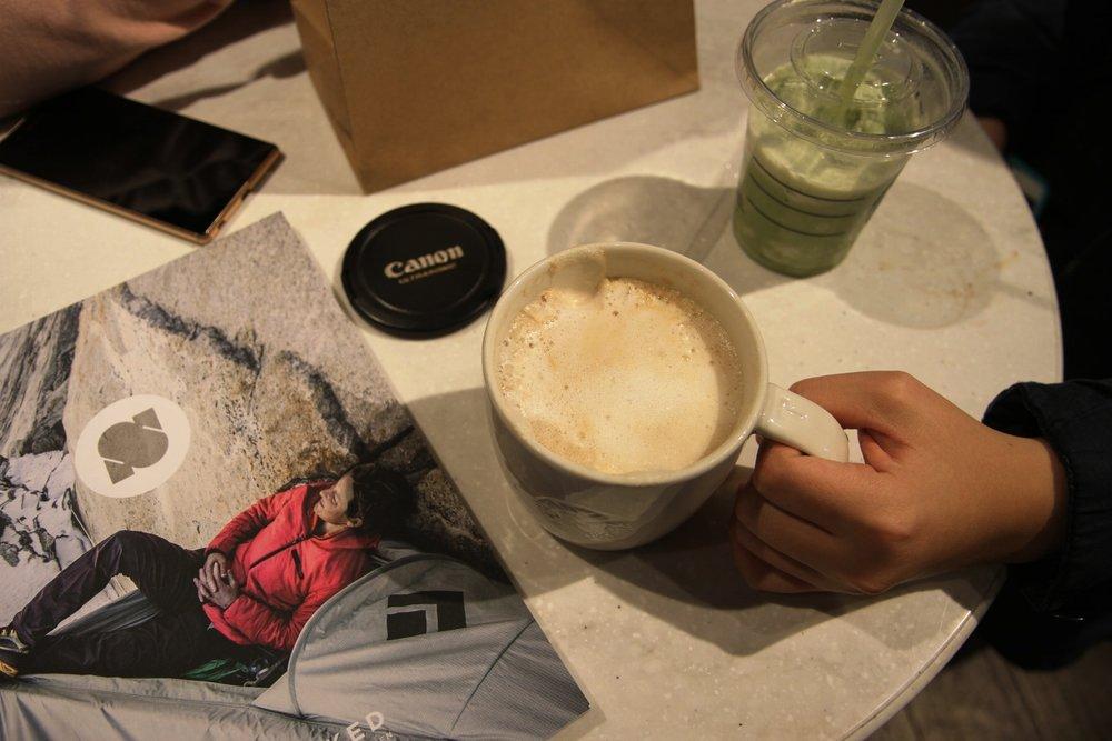 Chai tea latte & Green tea frappuccino @Starbuck's