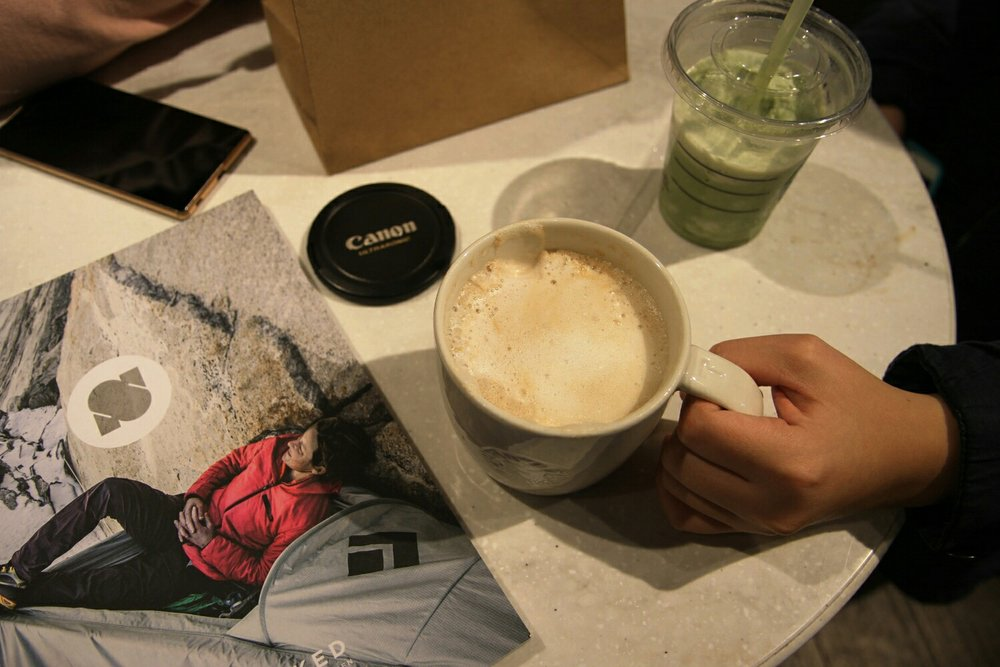 Chai tea latte & Green tea frappuccino @Starbuck's