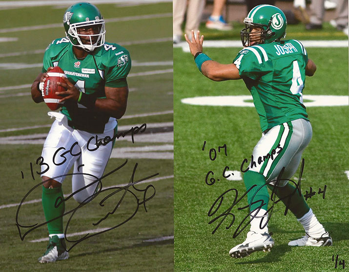 Dual Autographed w/ Kerry Joseph w/ '13 GC Champs' & '07 GC Champs' inscriptions (signed in black ink) Only 4 available in each size, individually numbered to 4 8x10 - $110 + free shipping 11x14 - $165 + free shipping