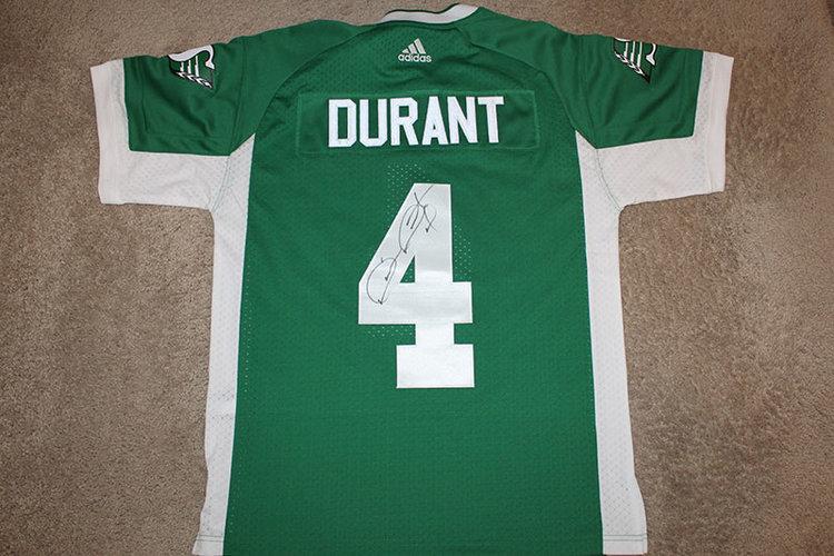cbee02f89a4 Darian Durant Autographed Adidas Saskatchewan Roughriders Jersey ...
