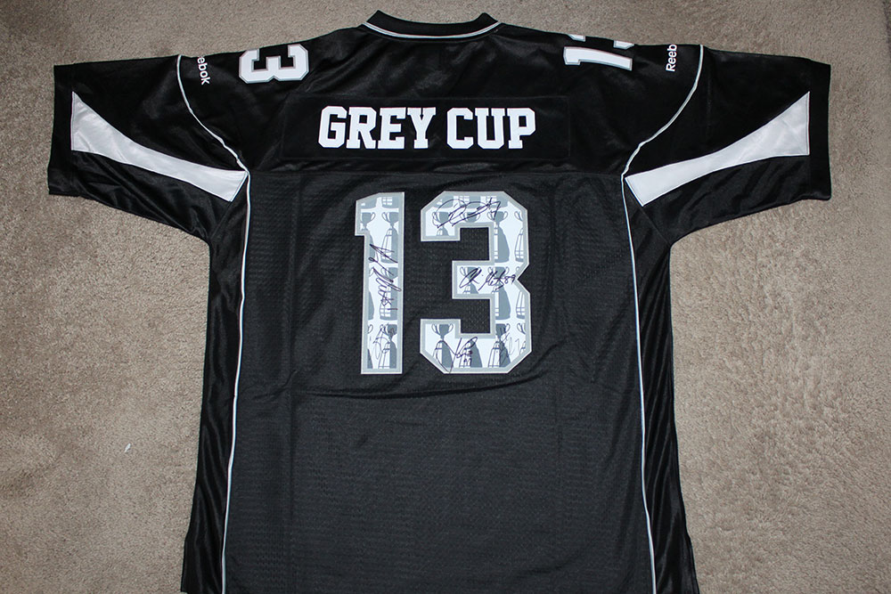 finest selection 7b3e8 3a0d3 2013 Grey Cup Jersey Autographed by Six — DarianDurant.com
