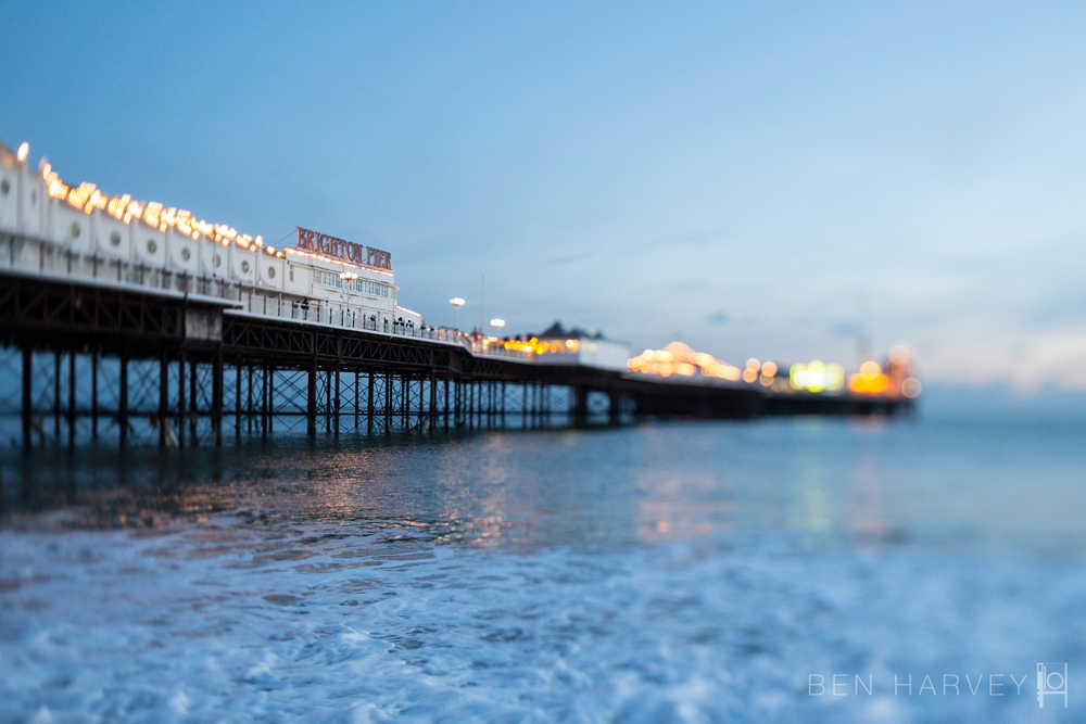Brighton Palace Pier at twilight