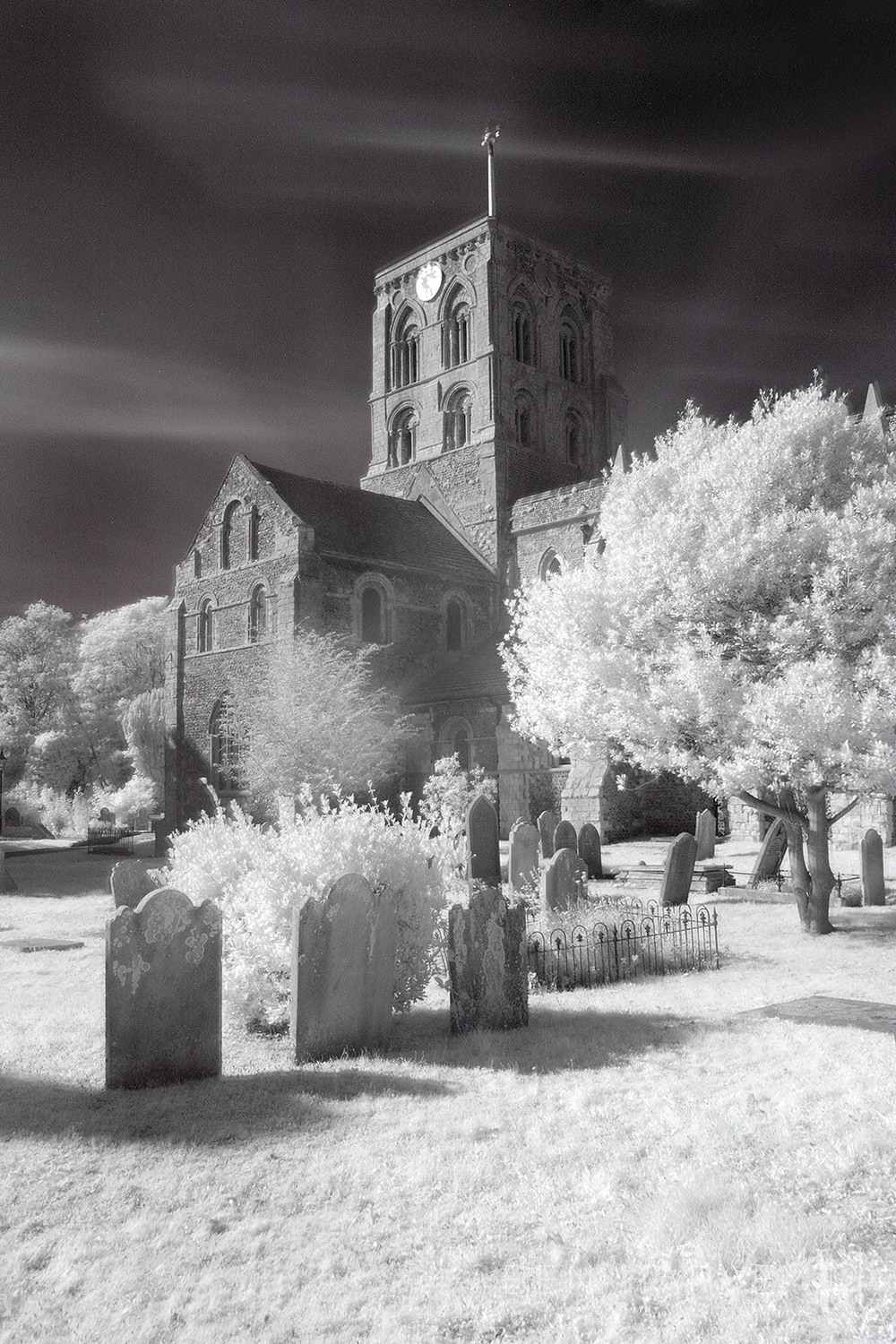 The same scene shot with an infra-red filter screwed on the front of the lens