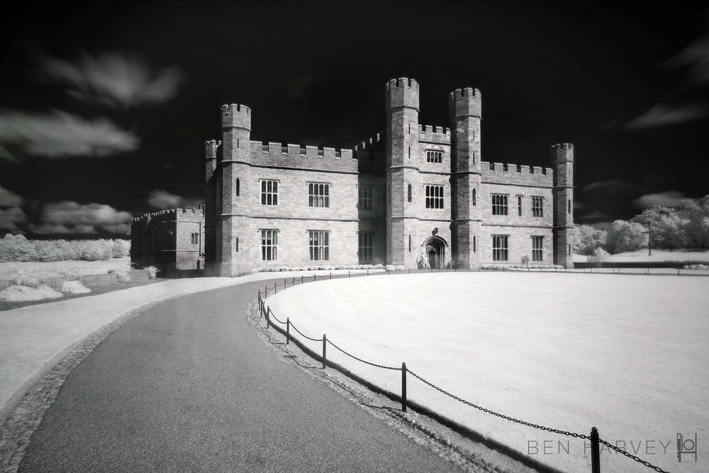 This is an infra-red of Leeds Castle taken on an unconverted DSLR and IR filter
