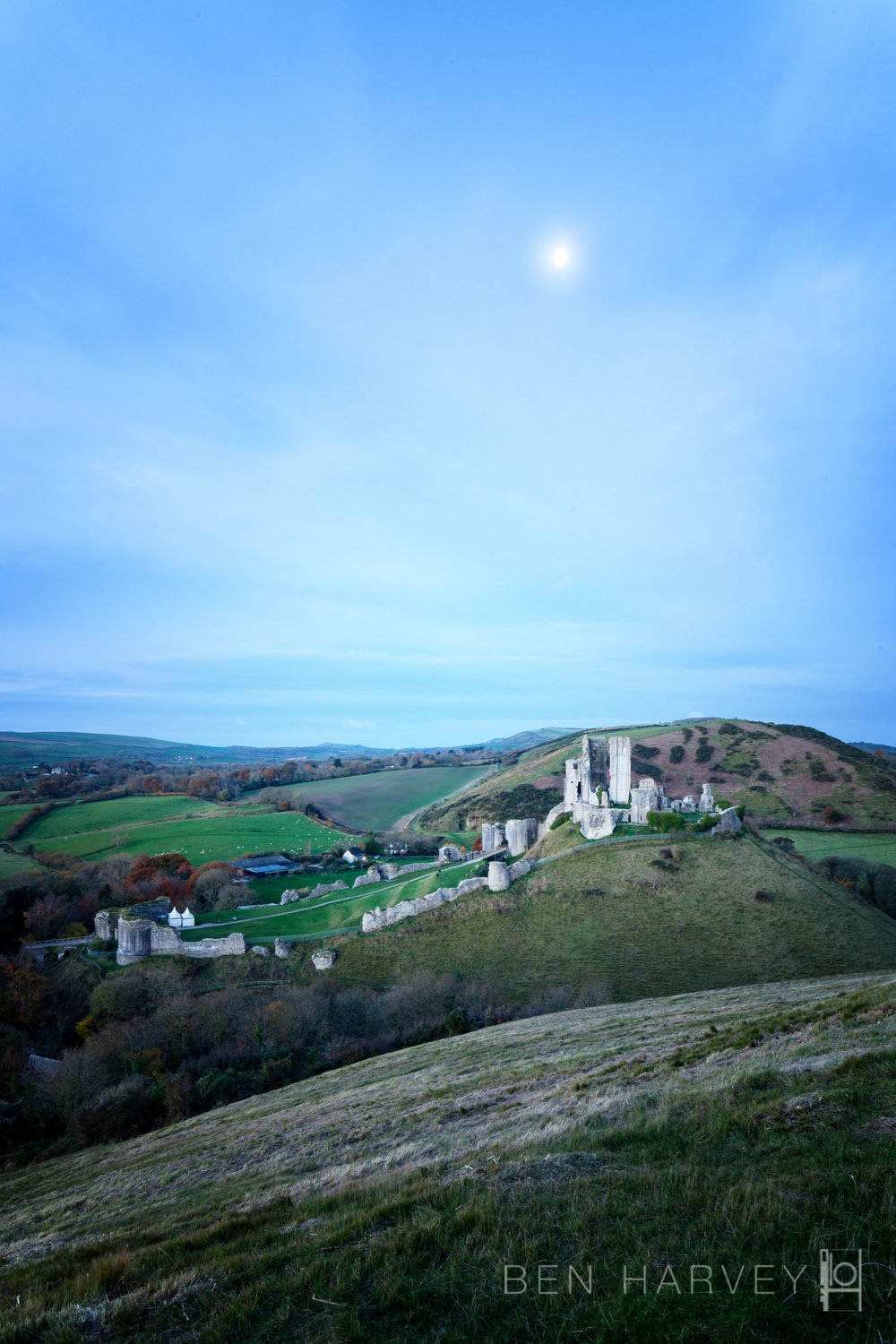 Corfe Castle - Moonlight