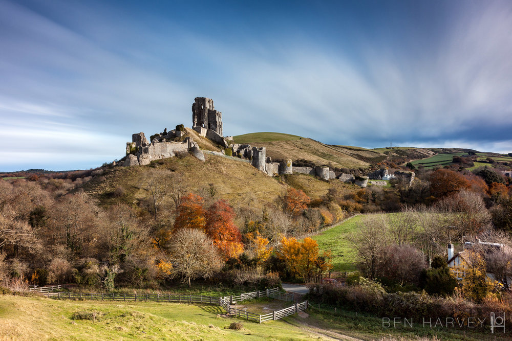 Corfe Castle - Long Exposure
