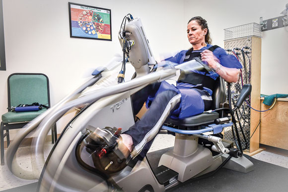 Keeping cool at crunch time; Exercise system puts cowboys, cardiac patients in motion