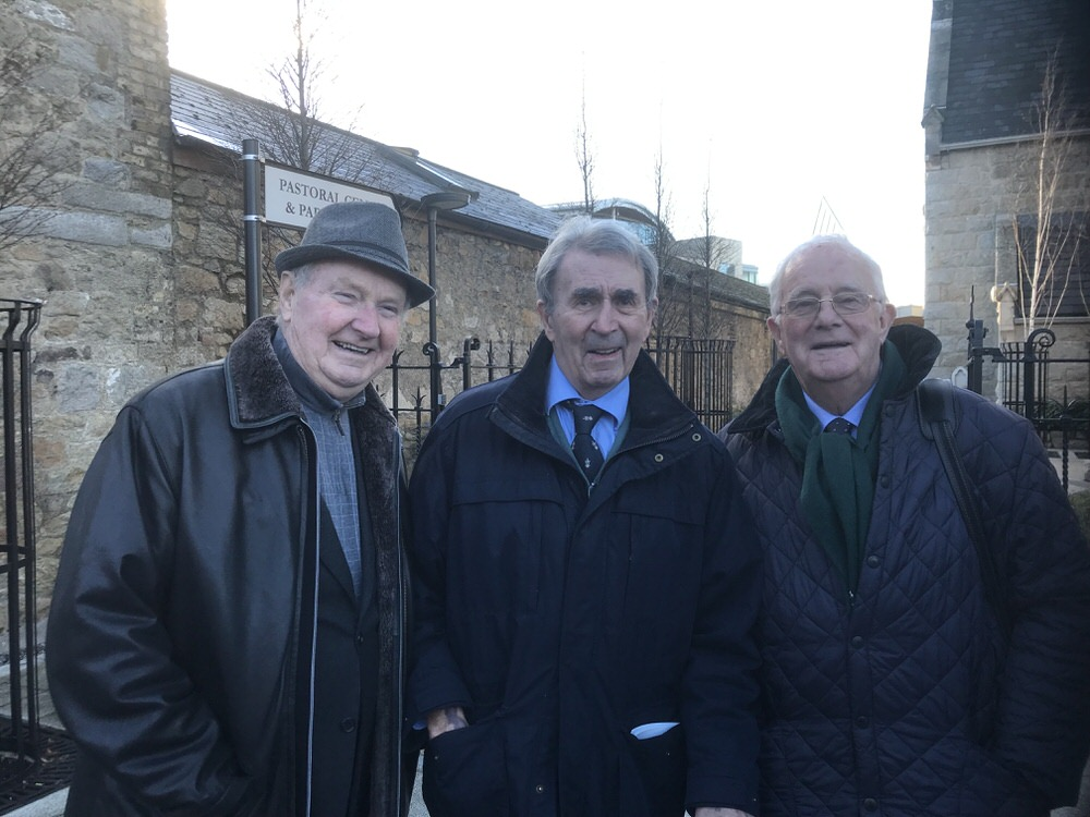 Colm's former colleagues, Dermot Gilleece, Michael McDonnell and Charlie Mulqueen.