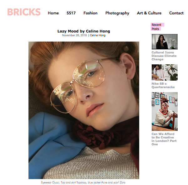 Hair styling  for Bricks Magazine Nov 2016