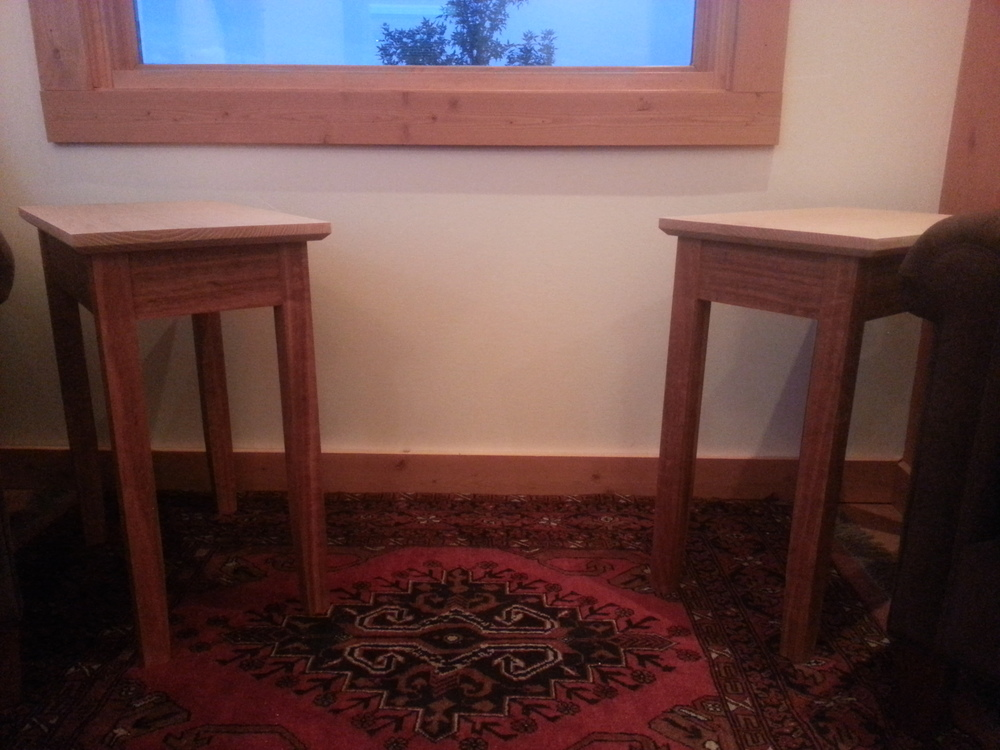 Matching Mixed species Side Tables