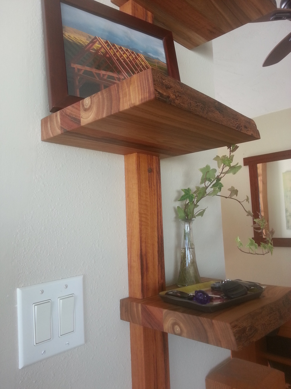 Stacked Elm Shelf