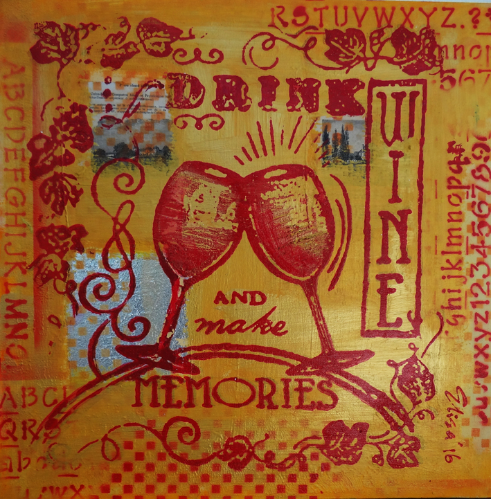 16 Drink Wine And Make Memories 50 50 cm.jpg