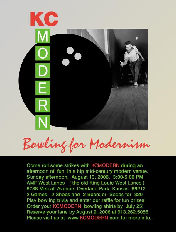 KCmodern Bowling for Modernism Invite