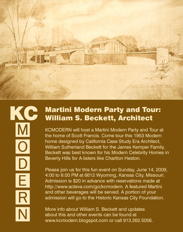 KCmodern Martini Modern Party & Tour: William S. Beckett