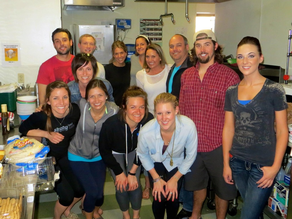 Volunteers from Lululemon Athletica at Urban Peak