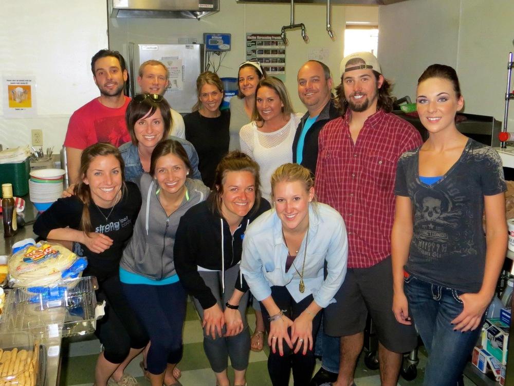 Volunteers from Lululemon Athletica at Urban Peak