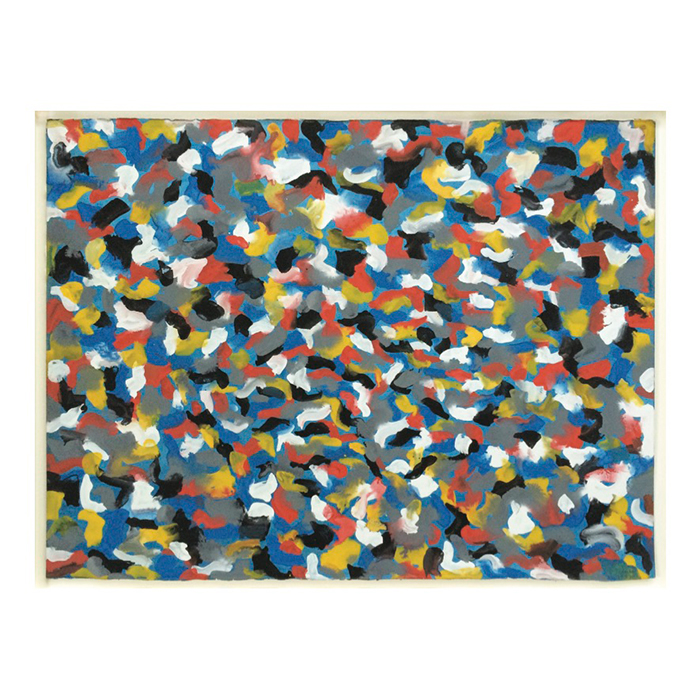 Sol LeWitt– Squiggly Brushstrokes – 1997 gouache on paper 22 1/2 x 29 3/4 inches (57.1 x 75.6 cm)