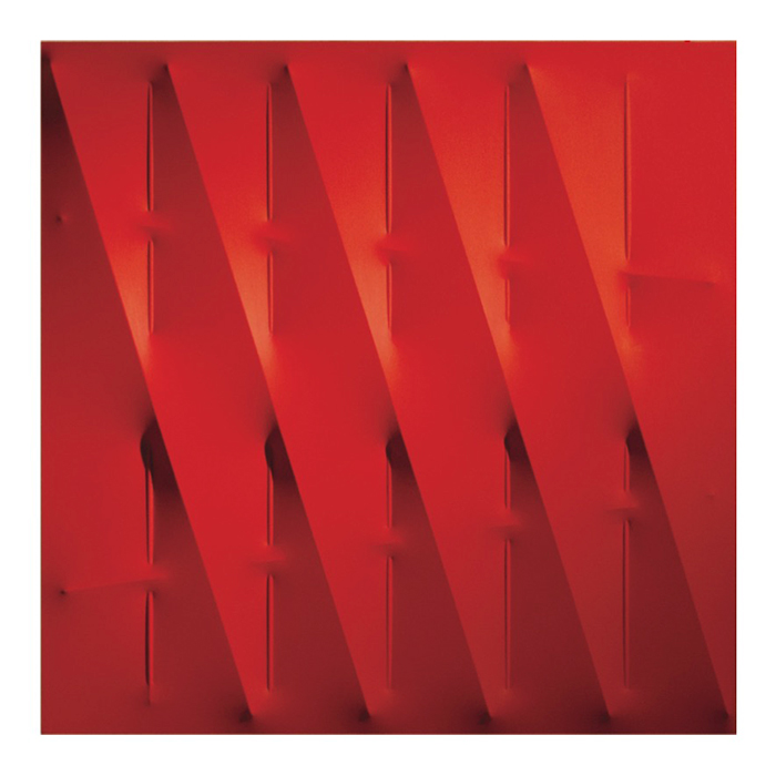 Agostino Bonalumi  Rosso,  2009 Acrylic on shaped canvas  39 1/2 x 39 1/2 inches  (100 x 100 cm)